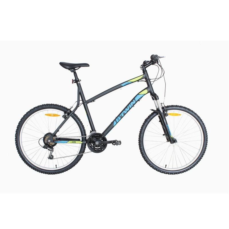 966fe8f41 btwin rockrider 340 grey yellow mtb cycle
