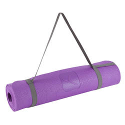 TAPIS YOGA DOUX CONFORT 8 MM VIOLET