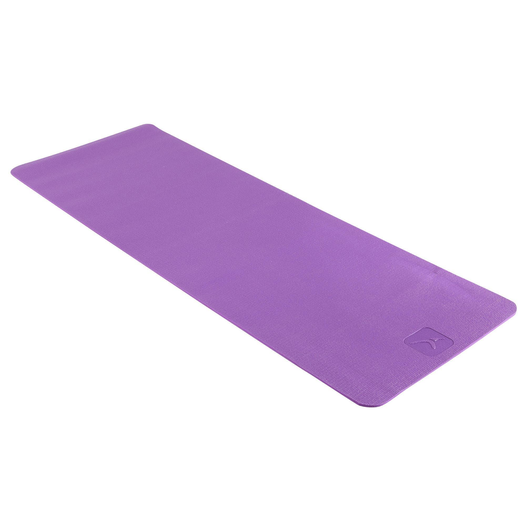 Gentle Yoga Mat 8mm Purple Domyos By Decathlon