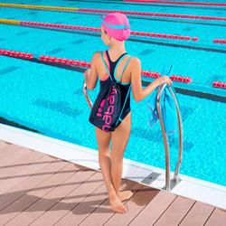 Complete zwemset Leony+ voor meisjes blauw/roze - 1005330