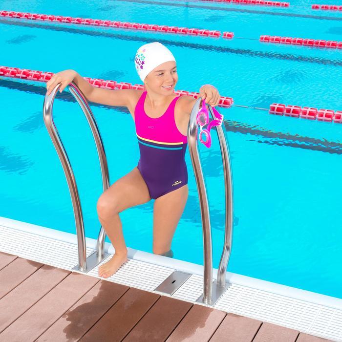Maillot de natation fille une pièce Loran violet rose