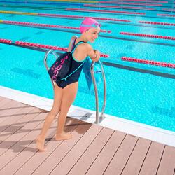 Complete zwemset Leony+ voor meisjes blauw/roze - 1005344