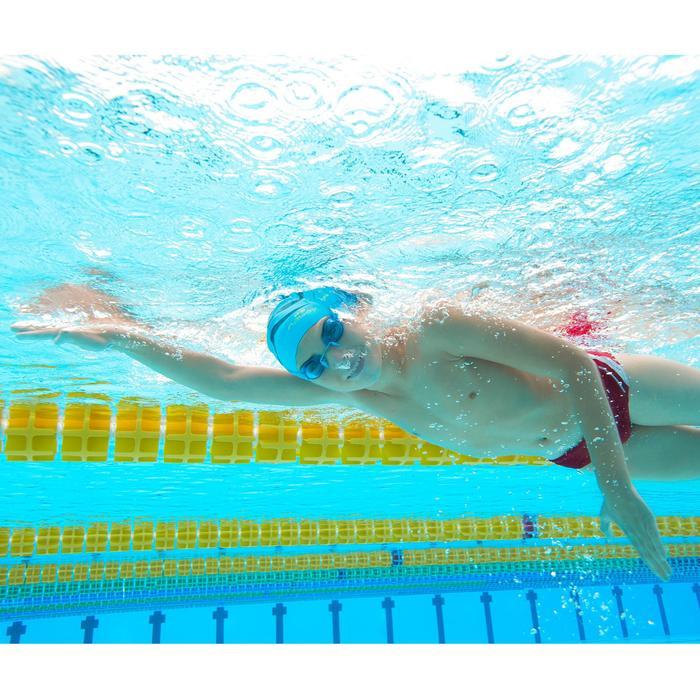 Zwemslip voor jongens B-Sporty Yoke blauw/rood