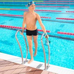 Zwemboxer voor jongens 100 Basic grijs