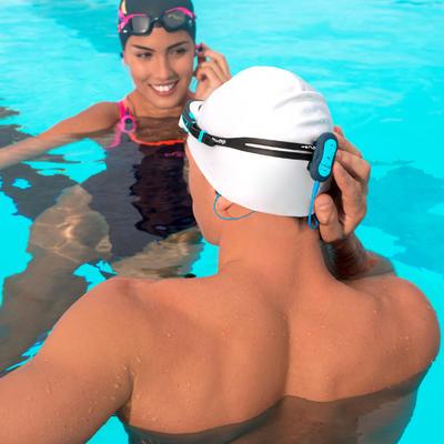 قبعة سباحة سيليكون - بيضاء
