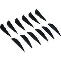 12 Club Archery Fletchings - Black