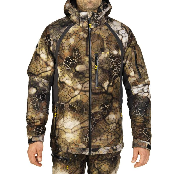 Veste chasse actikam 500 imperméable camouflage furtiv - 1005623