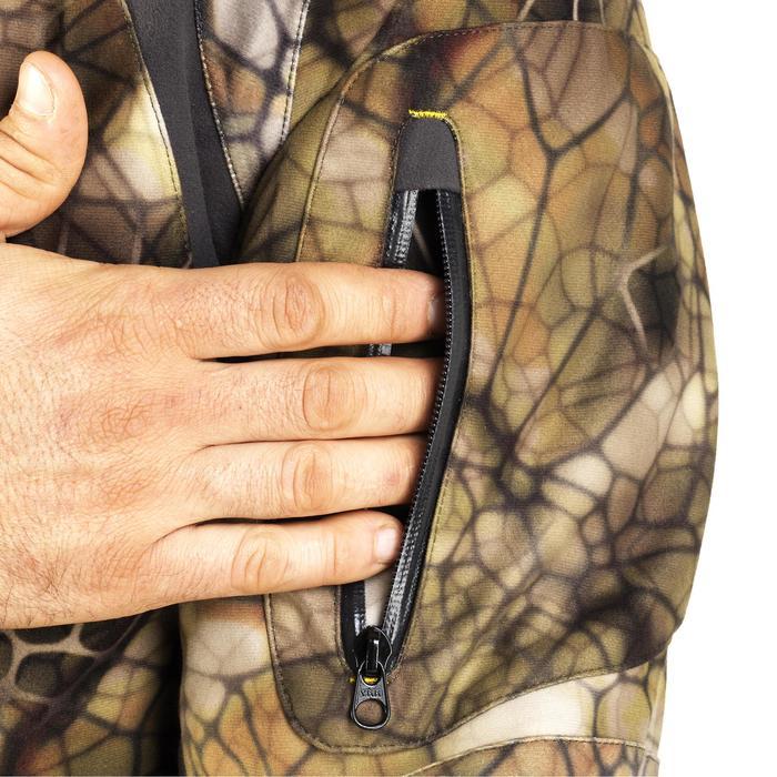 Veste chasse actikam 500 imperméable camouflage furtiv - 1005626