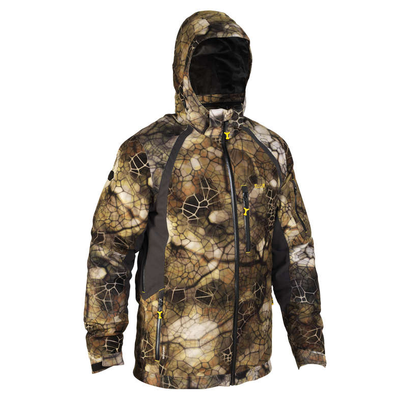CAMO CLOTHING DRY/WET WEATHER - ACTIKAM 500 Waterproof hunting JACKET - camouflage SOLOGNAC