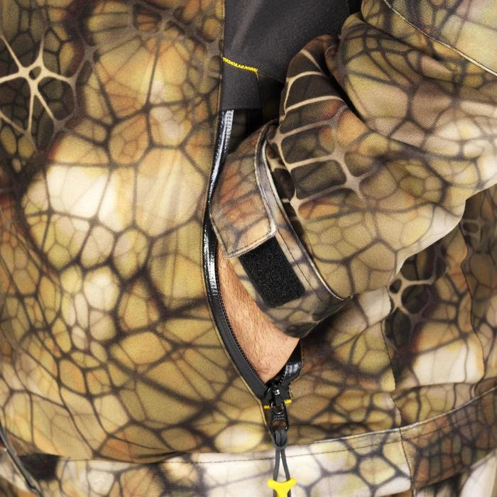 Veste chasse actikam 500 imperméable camouflage furtiv - 1005633
