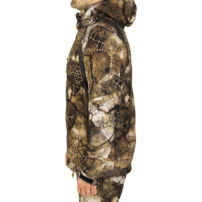 Veste chasse actikam 500 imperméable camouflage furtiv - 1005635