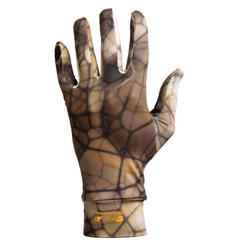 STALK CLOTHING DRY/WET WEATHER Shooting and Hunting - Gloves 100 Furtiv Camo SOLOGNAC - Hunting and Shooting Clothing