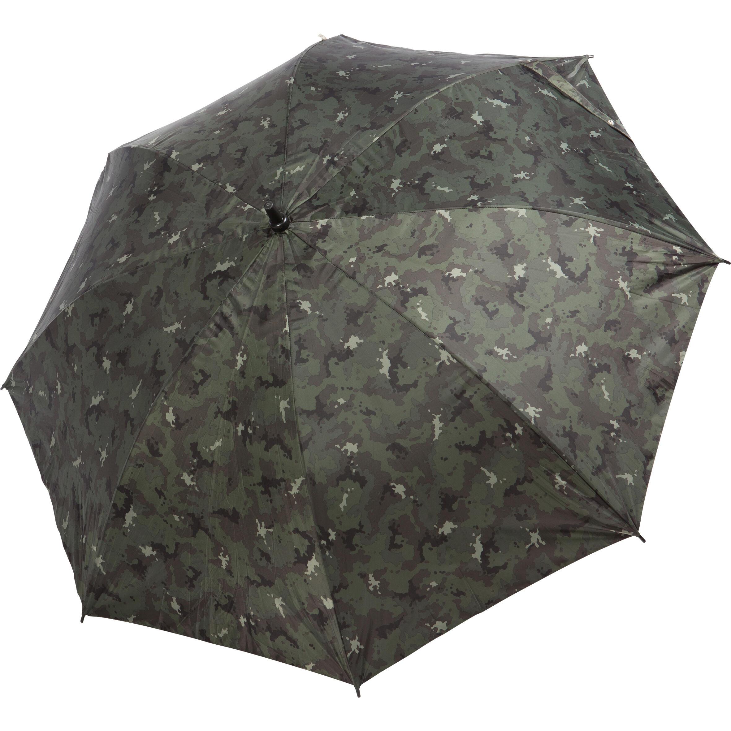 green island camouflage Brown SOLOGNAC Hunting Umbrella