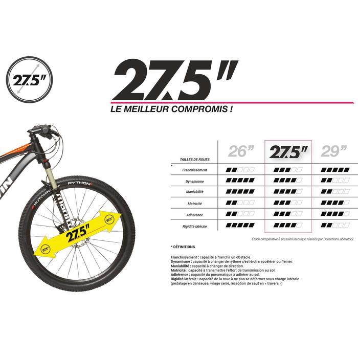 """BICICLETA DE MONTAÑA ROCKRIDER 520 AZUL OSCURO 27,5"""""""