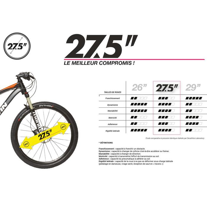 """Mountainbike MTB 27,5"""" Rockrider 520 dunkelblau"""