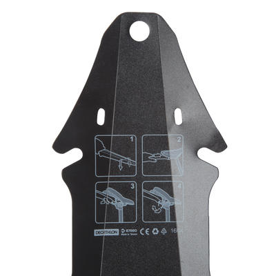 FLASH MOUNTAIN BIKING REAR MUDGUARD - BLACK