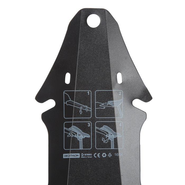 Spatbord Flash MTB achteraan zwart