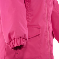 Warme en waterdichte meisjesjas voor trekking Hike 100 - 1006133