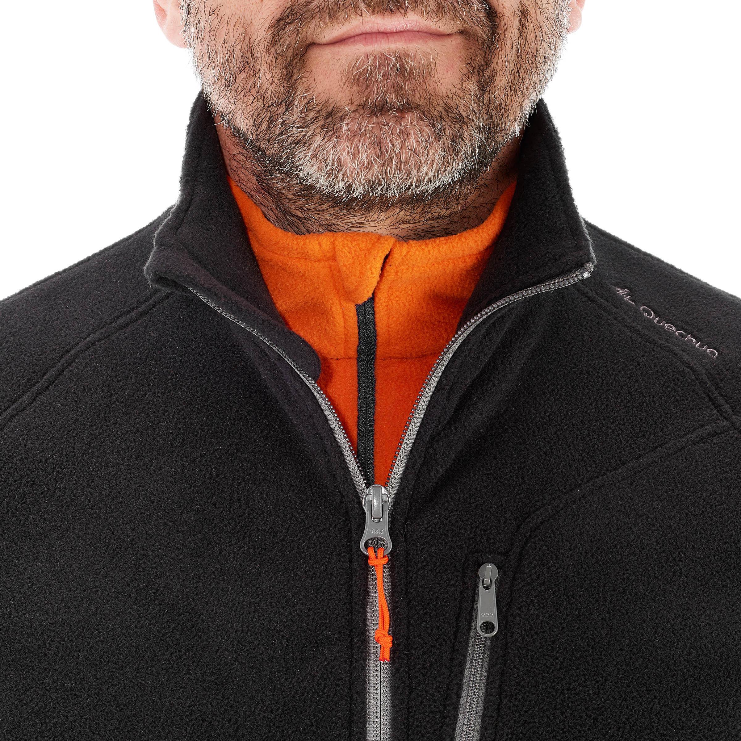 MH120 Men's Mountain Hiking Fleece Vest - Black