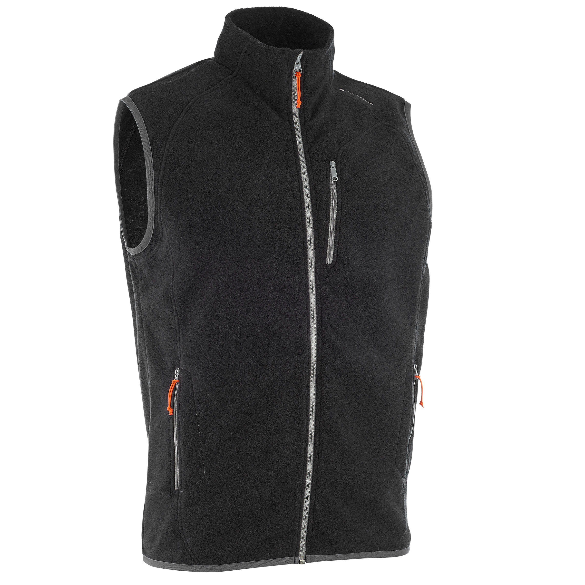 MH120 Men's Mountain Hiking Fleece Vest - Black