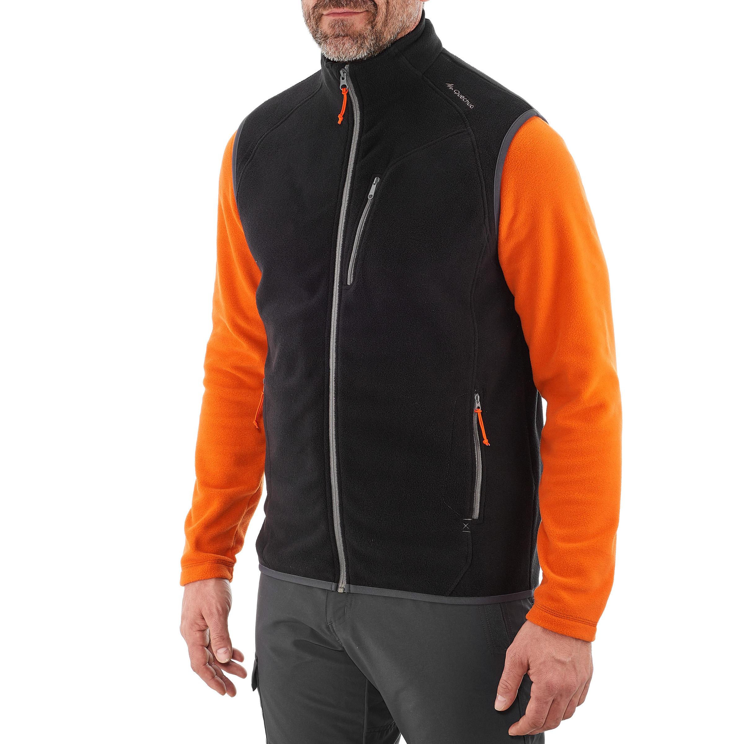 MH120 Men's Mountain Hiking Fleece Gilet - Black