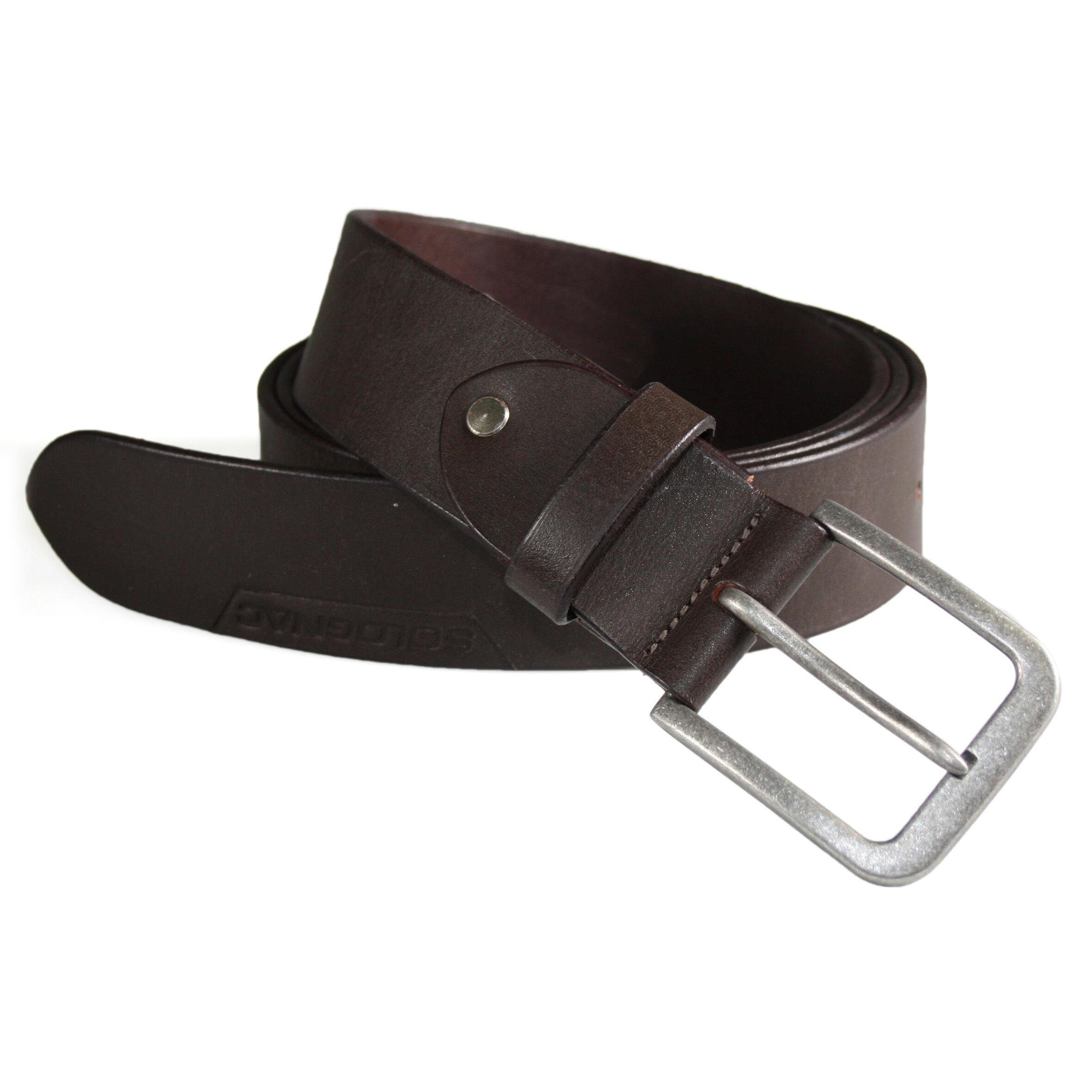 Mens Leather Belt Brown