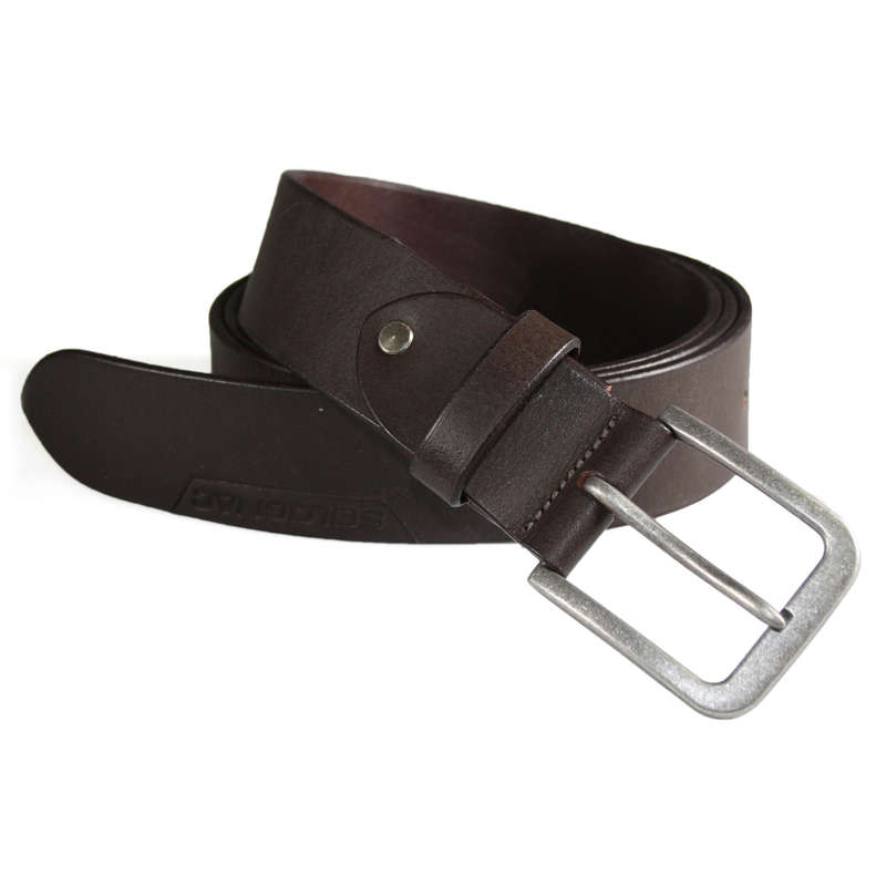 TROUSERS/SHIRTS Clothing  Accessories - Brown leather belt SOLOGNAC - Clothing  Accessories