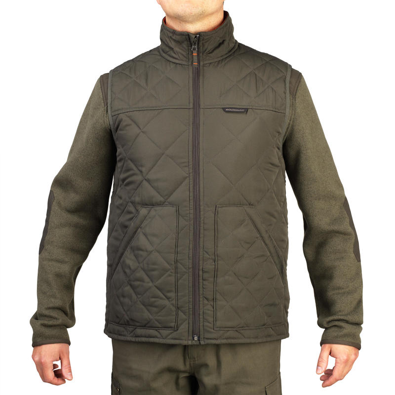 Men's Padded Sleeveless Jacket 100 Green
