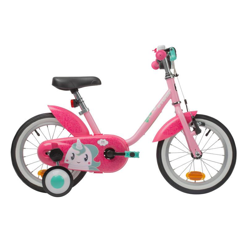 500 Kids' 14-Inch Bike (3-4.5 Years) - Unicorn