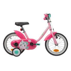 Kinderfiets 500 Eenhoorn - meisjesfiets 14 inch roze