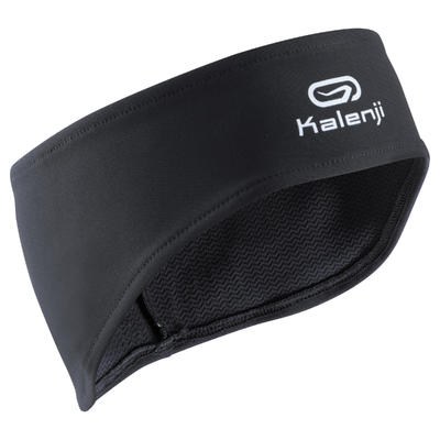 Тепла пов'язка на голову для бігу - Чорна