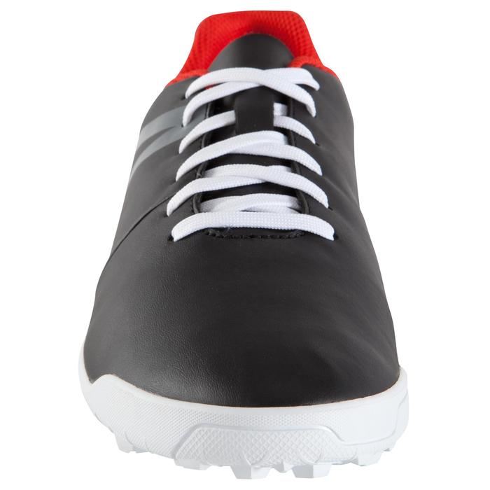Voetbalschoenen First 100 HG voor hard terrein, volwassenen zwart rood wit