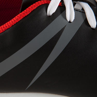 First 100 HG Adult Hard Pitch Football Boot - Black/Red/White