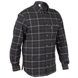 Camisa manga larga caza 100 negro
