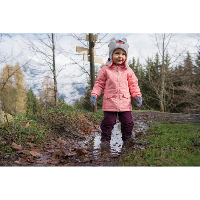 Veste chaude imperméable de randonnée neige SH100 WARM fille 2-6 ans rose