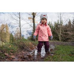 Warme waterdichte wandeljas voor de sneeuw meisjes SH100 Warm 2-6 jaar roze
