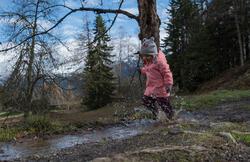 Warme en waterdichte meisjesjas voor trekking Hike 100 - 1007832