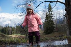 Warme en waterdichte meisjesjas voor trekking Hike 100 - 1007847