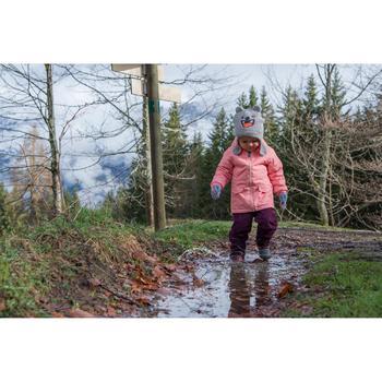 Winterjacke Winterwandern SH100 warm Kleinkinder Mädchen 68-116cm rosa