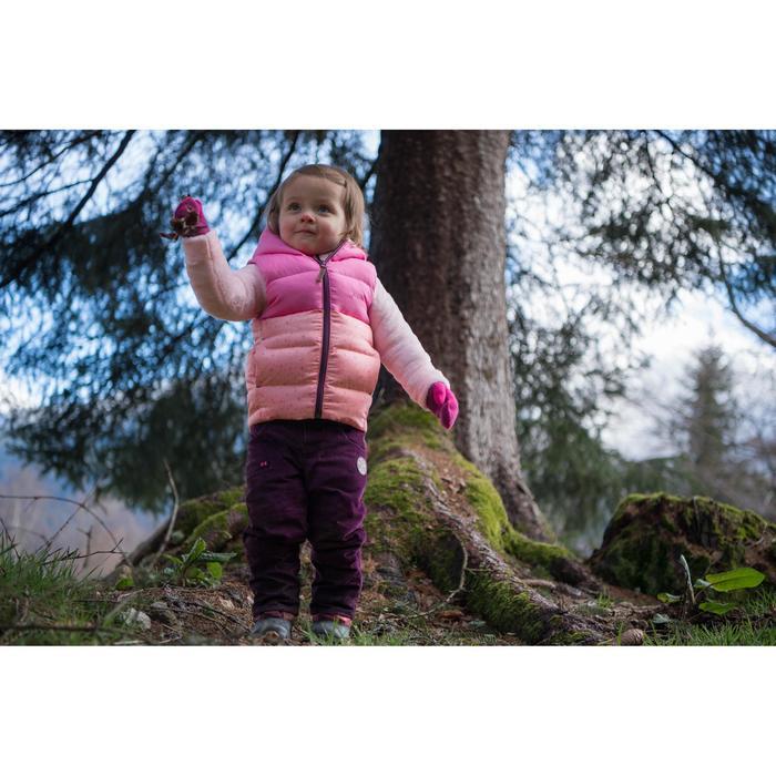 Gewatteerde bodywarmer kinderen X-warm grijs/roze