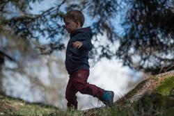 Jongenshoodie voor trekking Warm - 1007919