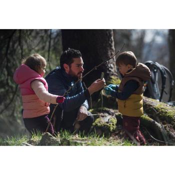Gilet doudoune de randonnée enfant X-Warm marron