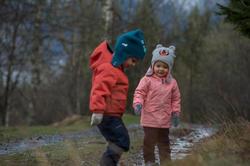 Warme en waterdichte meisjesjas voor trekking Hike 100 - 1007933