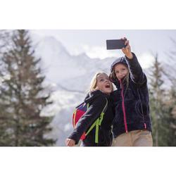 Fleecejacke Winterwandern SH100 Warm Kinder Mädchen 128-164cm grau