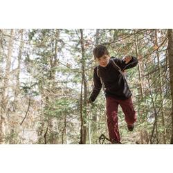 Hike 200 Boys' Hiking Fleece Jacket - Printed Red