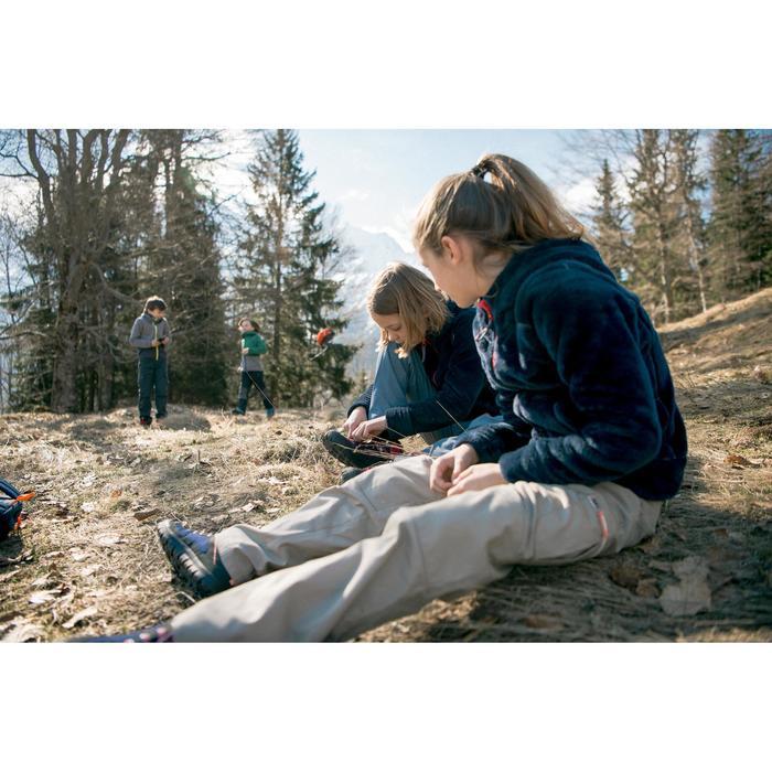 Fleecejacke Winterwandern SH100 Warm Kinder blau