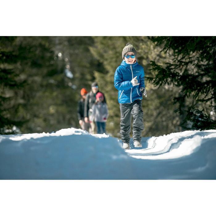 Schneestiefel Winterwandern SH100 warm Kinder blau