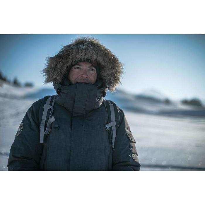 Parka Arctic 100 trekking hombre negro