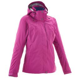 Rainwarm 100 3-in-1 Women's Trekking Jacket - Pink