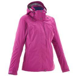 女士三合一健行外套RainWarm 100 –粉色